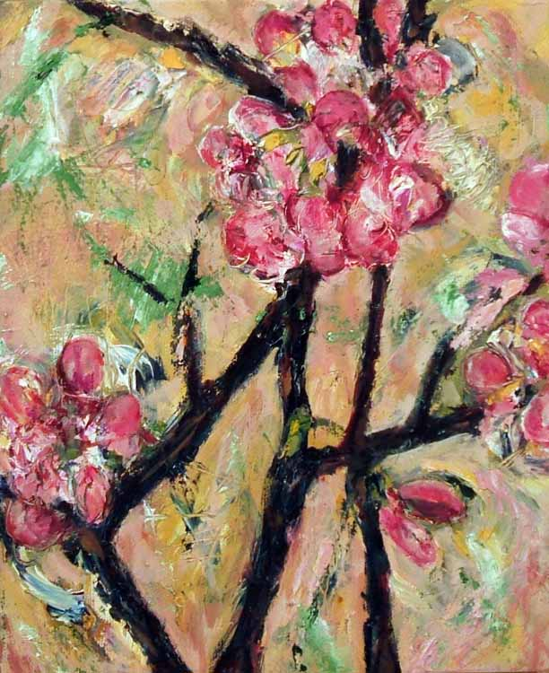 Cherry Blossom 4, oil painting on canvas Susan Livengood art