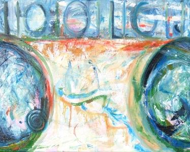 Digital Landscape 2 oil painting on canvas Susan Livengood artist