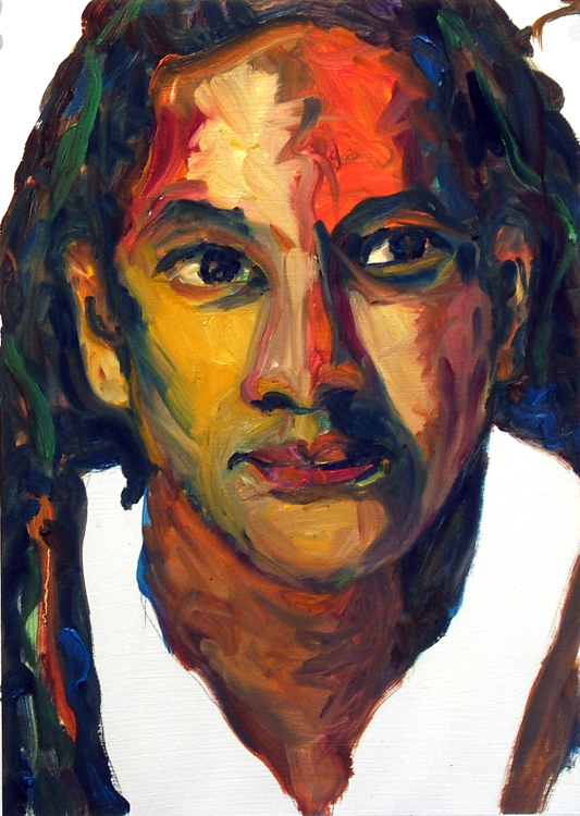 Warren, oil painting on paper Susan Livengood art