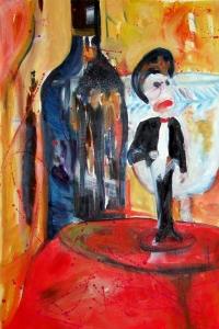 Dia del Muerto oil painting on paper Susan Livengood art