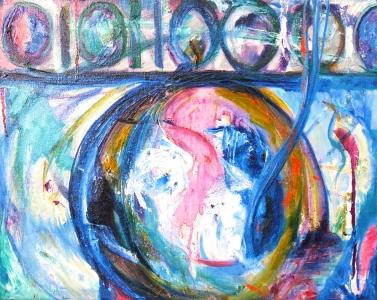 Digital Landscape 1, oil painting on canvas Susan Livengood artist
