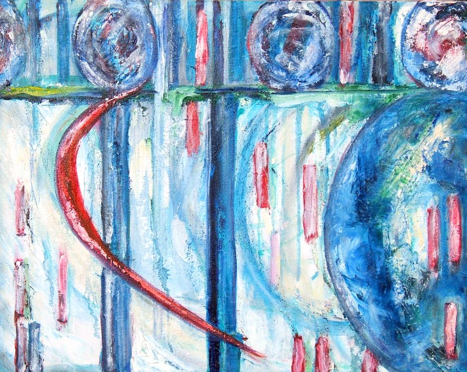 Digital Landscape 3 oil painting on canvas Susan Livengood art
