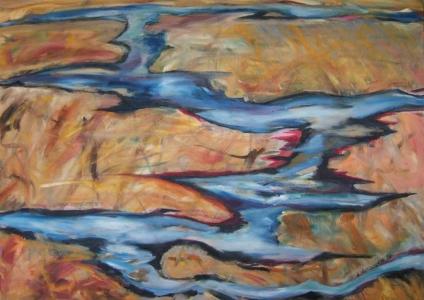 Marsh, oil painting on canvas Susan Livengood artist
